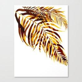 Palm trees, leavs Canvas Print