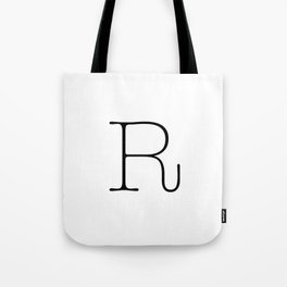 Letter R Typewriting Tote Bag