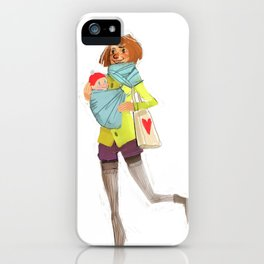 Autumn walk iPhone Case