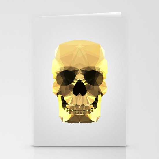 Polygon Heroes - Gold Skull Stationery Cards