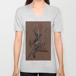 Stone Curve Abstract Unisex V-Neck
