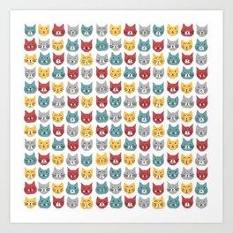 Kittens pattern Art Print