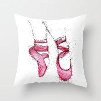 ballet Throw Pillows featuring Ballet by María D. Curiel