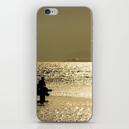 Sitting in the dock of a bay iPhone Skin
