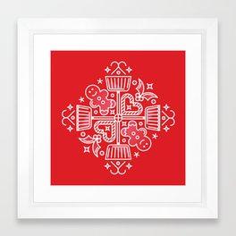 Shovelflake 4: Baking Framed Art Print