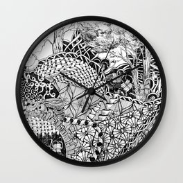 Black and White Design 7 Wall Clock