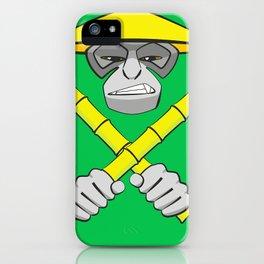 Gibbon Warrior Bamboo iPhone Case