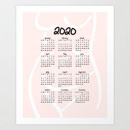 A Woman's Body | 2020 Calendar Art Print