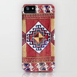 Kazak  Antique South West Caucasus Tribal Rug iPhone Case