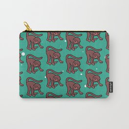 loony monkey pattern (red) Carry-All Pouch