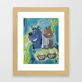  Scooby, Shaggy, & Shroomies  Framed Art Print