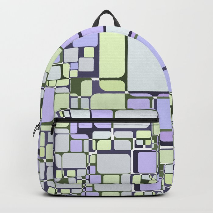 Abstract geometric pattern.6 Backpack