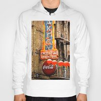 coca cola Hoodies featuring CHINESE COCA COLA SIGNBOARD by Voodoo Bench