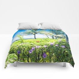 Ipomoea Keanae Morning Glory Maui Hawaii Comforters