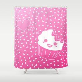 Cake Bites in Love Shower Curtain