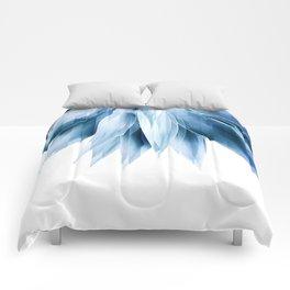 Agave geo fringe - blue Comforters