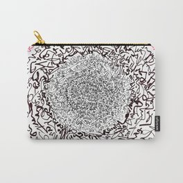 A Pink Result of the Dance, asemic calligraphy for home decoration Carry-All Pouch