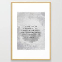 Quality of Soul (Spanish) Framed Art Print