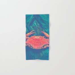 Orange Crab Hand & Bath Towel