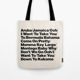Kokomo Helvetica Tote Bag