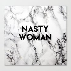 Nasty Woman (marble) Canvas Print