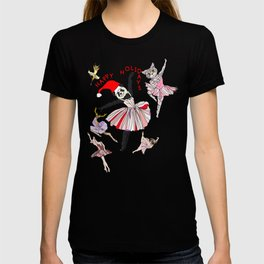 Hipster Holiday Ballerinas T-shirt