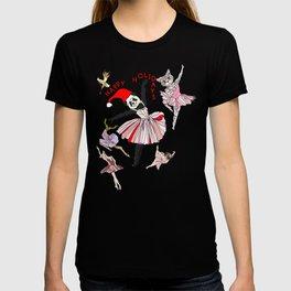 Hipster Holiday Ballerinas T-shirt