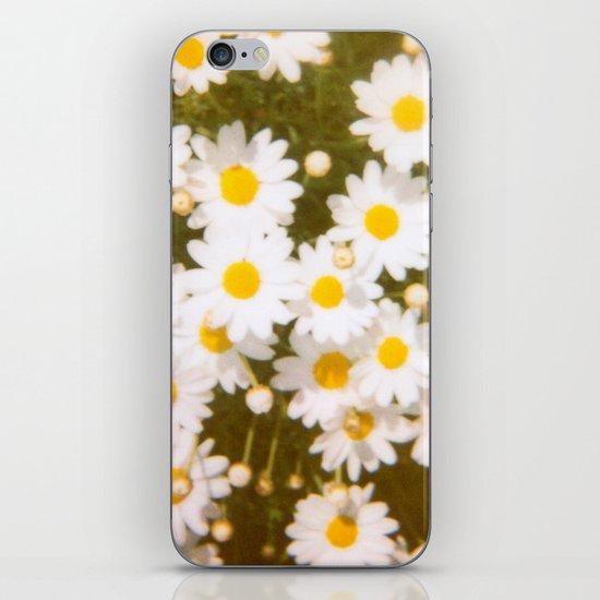 Daisies Retro Polaroid Print iPhone & iPod Skin