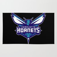 nba Area & Throw Rugs featuring NBA - Hornets by Katieb1013