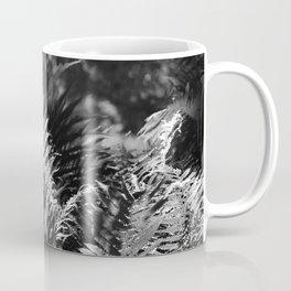 Ostrich Fern in Black and White Coffee Mug