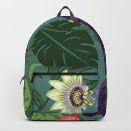 Toucan and Passion Flowers Backpack