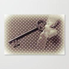 Vintage key Canvas Print