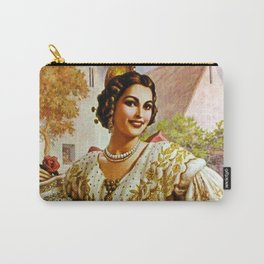 Mexican Calendar Girl in Embroidered Dress by Jesus Helguera Carry-All Pouch