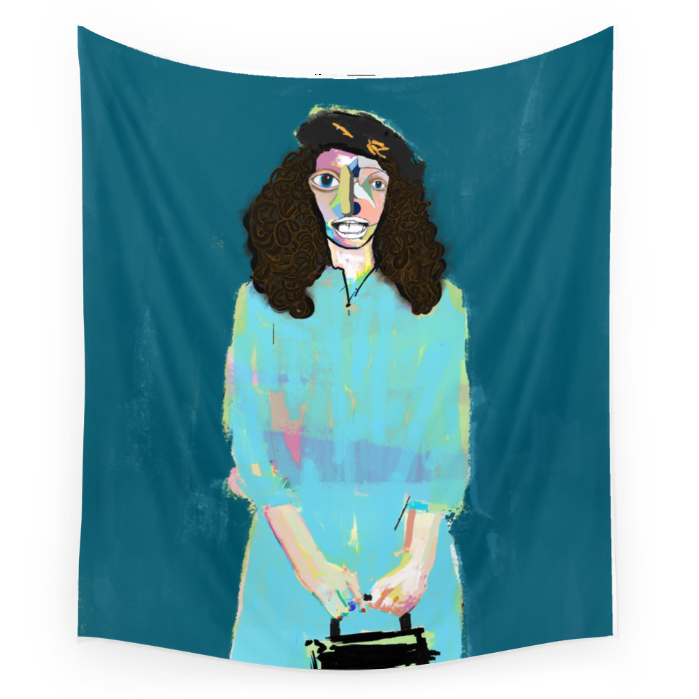 Purse Girl Wall Tapestry by blibre (TPS8524508) photo