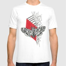 Hawkmoth Abstract Mens Fitted Tee White MEDIUM