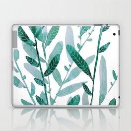 greeen water color leaves Laptop & iPad Skin