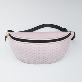 Ombre Red pink white hearts and raindrops on a sunset pink purple background Fanny Pack