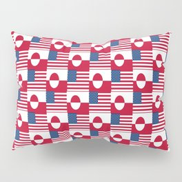 Mix of flag: Usa and greenland Pillow Sham