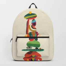 Totem - balanced pebbles Backpack