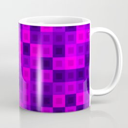 Strict tile of pink intersecting rectangles and violet bricks Coffee Mug