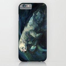 Polar Bear Swimming in Northern Lights iPhone 6s Slim Case
