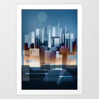 metropolis Art Prints featuring Metropolis by Herb Vaine
