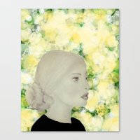 emily rickard Canvas Prints featuring Emily by Teri Martin