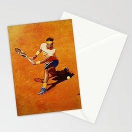Rafael Nadal Sliced Backhand Stationery Cards
