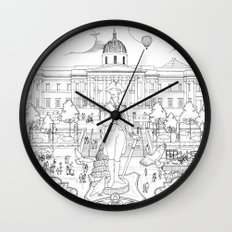 Pigeons Perspective Wall Clock