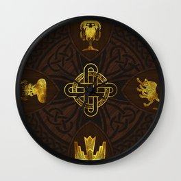 Ilvermorny Knot with House Shields Wall Clock