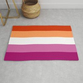 Lesbian Pride Flag LGBTQ Rug