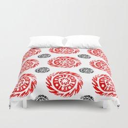 Sun mandala pattern Duvet Cover