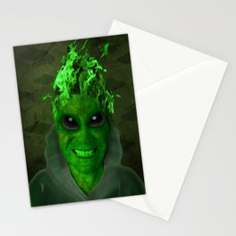 GREEN PLANET ALIEN (Us And Them) Stationery Cards