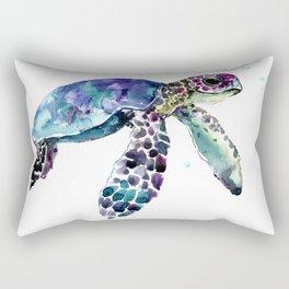 Sea Turtle, Baby Turtle animal artwork for children Rectangular Pillow